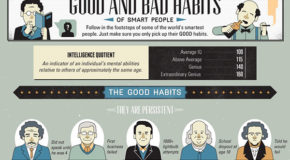 Interesting Infographics: The Good & Bad Habits of Smart People